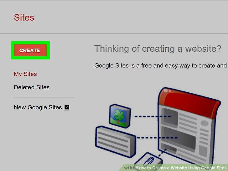 Website Using Google Sites Step 2