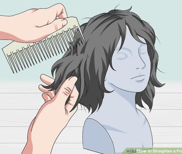 Image Titled Straighten A Frizzy Wig Step