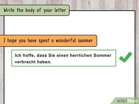 how to write a letter in german wikihow