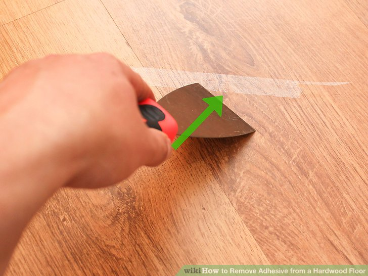 Image Led Remove Adhesive From A Hardwood Floor Step 10