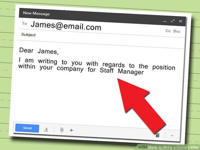 Sle Email Cover Letter Template