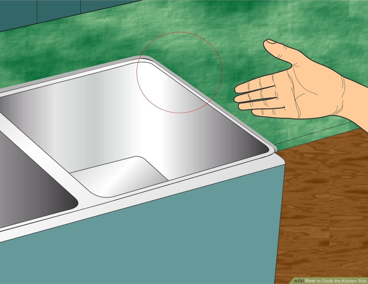 how to caulk the kitchen sink with
