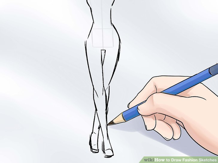The Simplest Way to Draw Fashion Sketches   wikiHow Image titled Draw Fashion Sketches Step 8