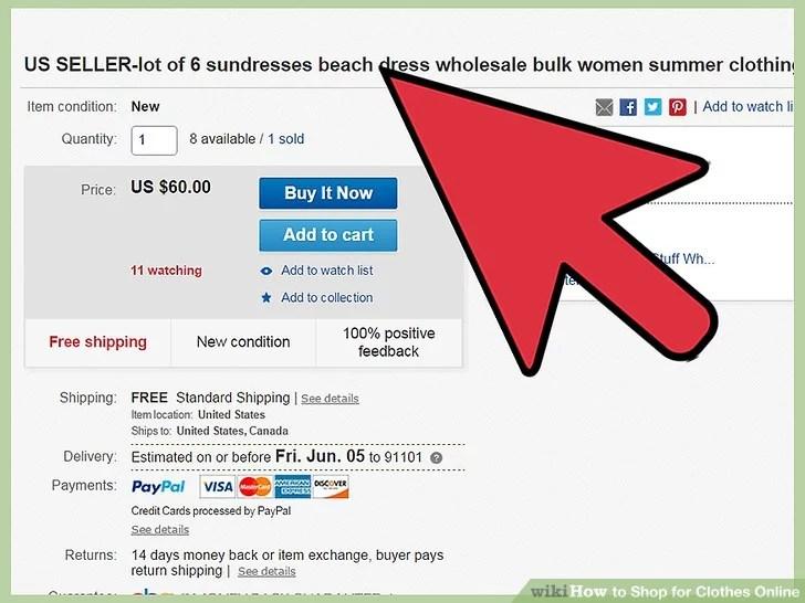 Image titled Shop for Clothes Online Step 9