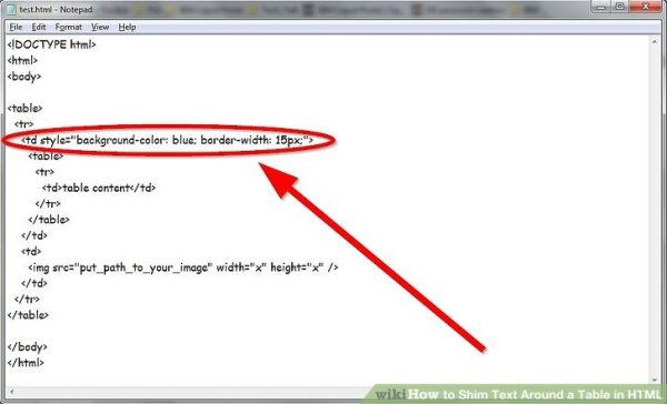 How to Shim Text Around a Table in HTML (with Pictures ...