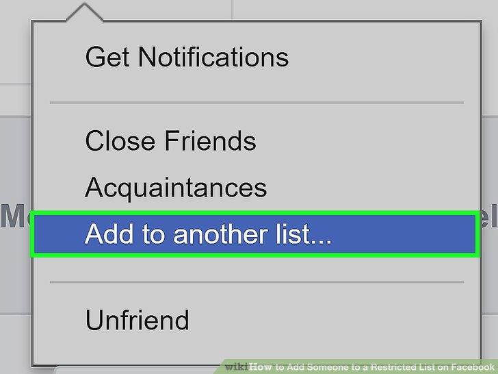 Restricted List Facebook Friends Edit
