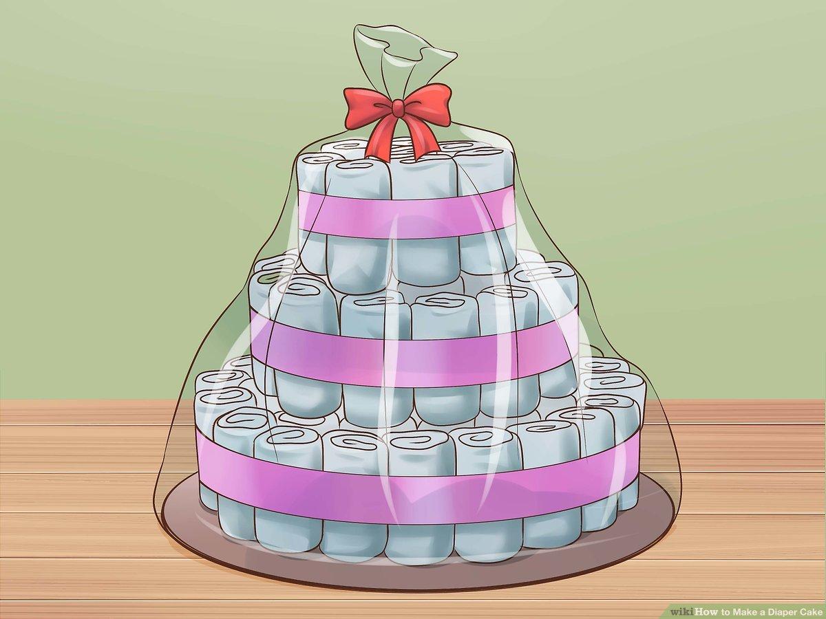 3 Ways To Make A Diaper Cake Wikihow