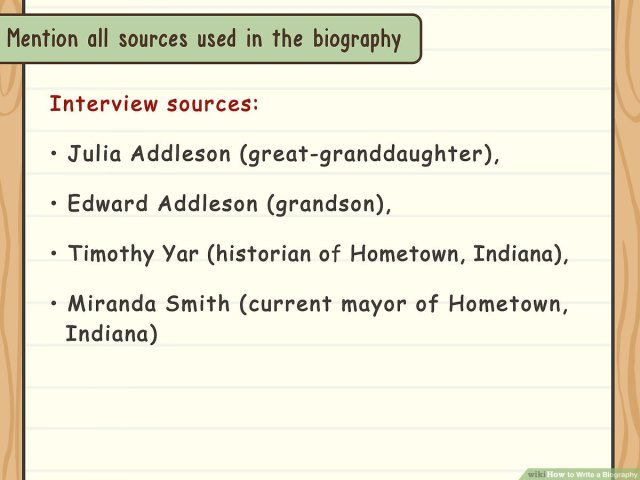 How to Write a Biography: 28 Steps (with Pictures) - wikiHow
