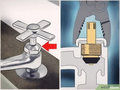 change washers in the kitchen faucet