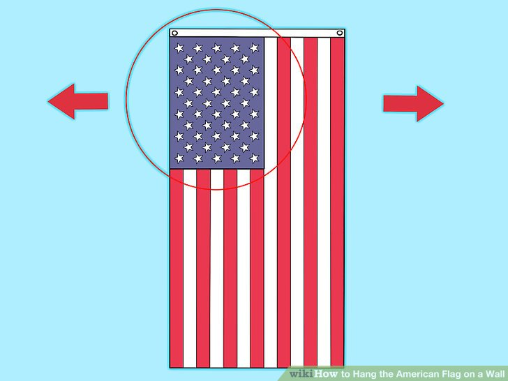proper way vertically hang american flag. Black Bedroom Furniture Sets. Home Design Ideas