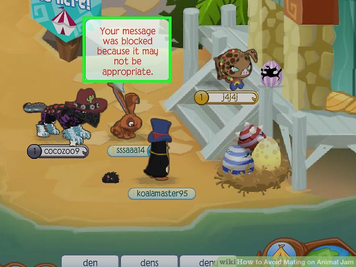 How to Avoid Mating on Animal Jam  6 Steps  with Pictures  Image titled Avoid Mating on Animal Jam Step 1