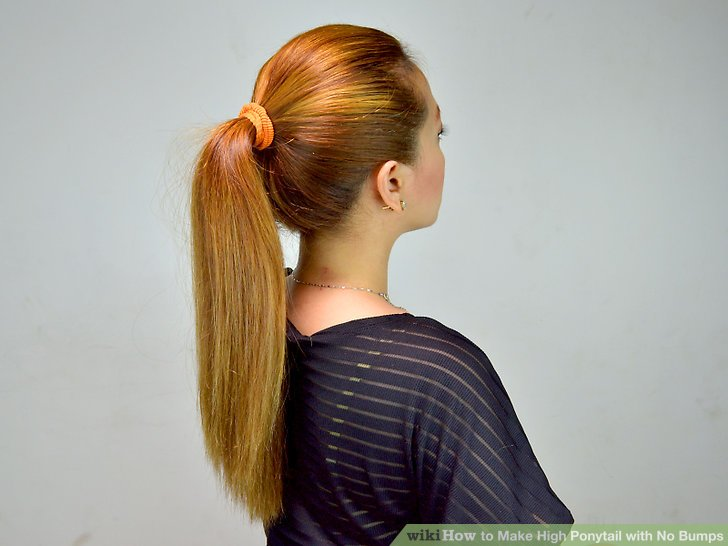 How To Make High Ponytail With No Bumps 7 Steps With