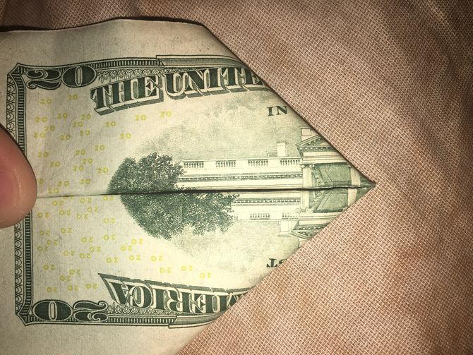 Ten Dollar Bill Fold Twin Towers