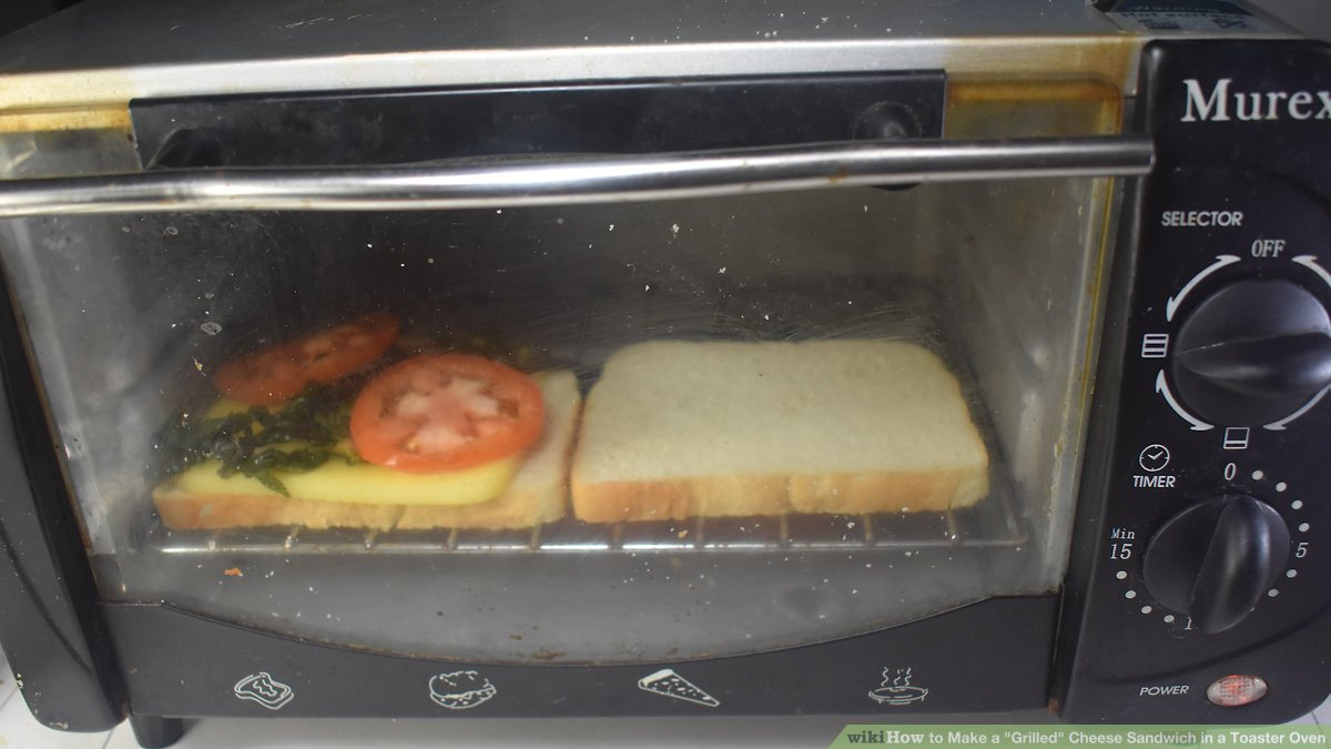 how to make a grilled cheese sandwich in a toaster oven
