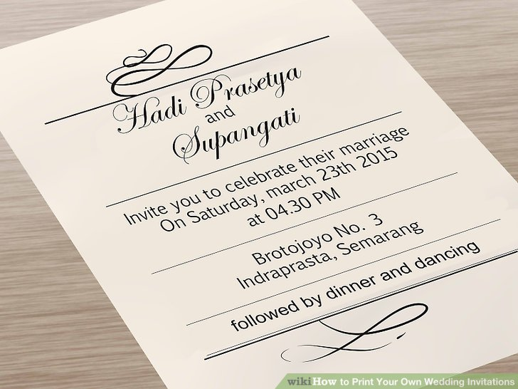 Printing Your Own Wedding Invitations: Print Your Own Invitations