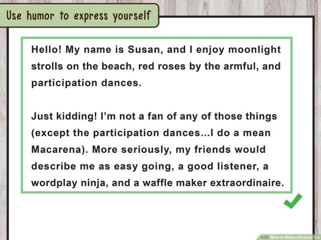 8 Ways to Write a Personal Bio - wikiHow