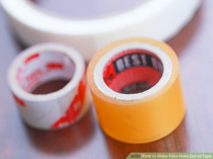 Image Led Make Fake Nails Out Of Tape Step 1