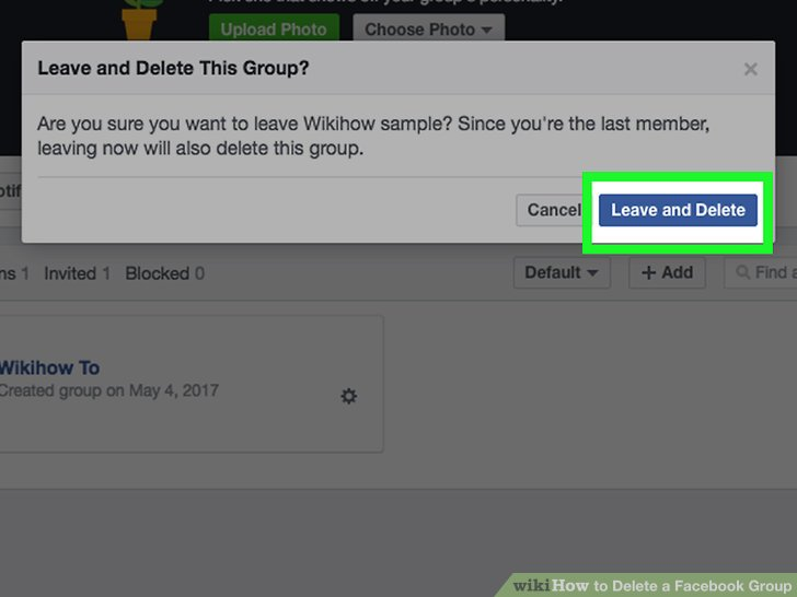 Delete facebook event invite invitationjpg 2 easy ways to delete a facebook group wikihow ccuart Image collections