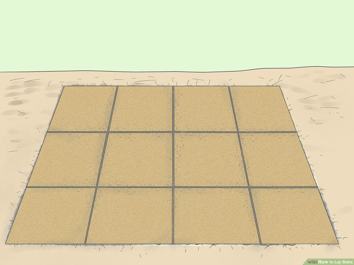 how to lay slabs 8 steps with