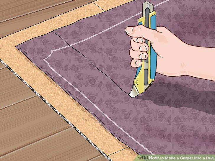 Turn Carpet Remnant Into Area Rug