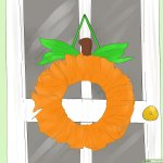 How To Make A Pumpkin Wreath With Pictures Wikihow