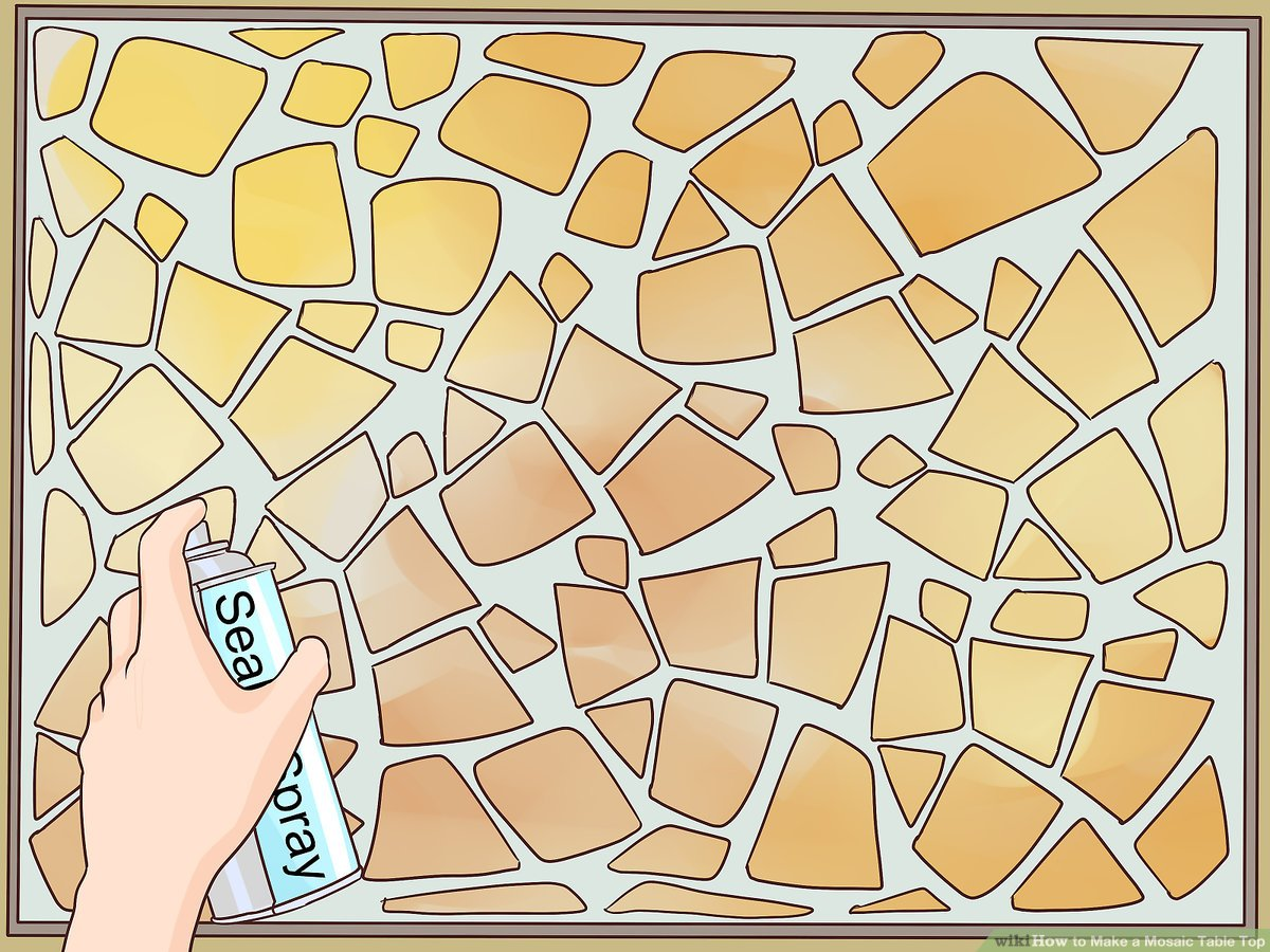 how to make a mosaic table top 15
