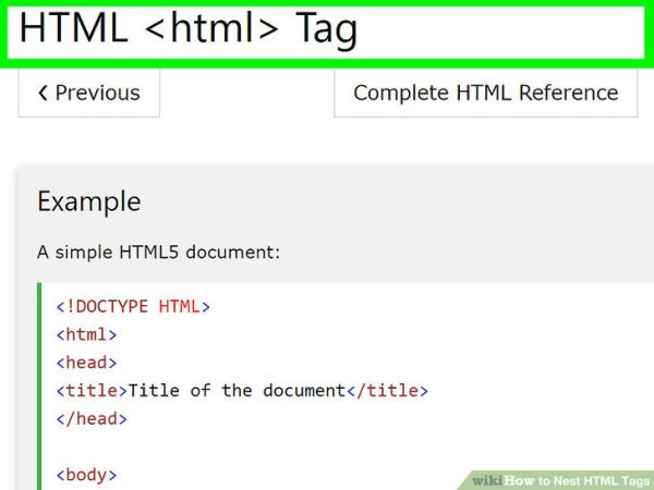 How to Nest HTML Tags: 4 Steps (with Pictures) - wikiHow
