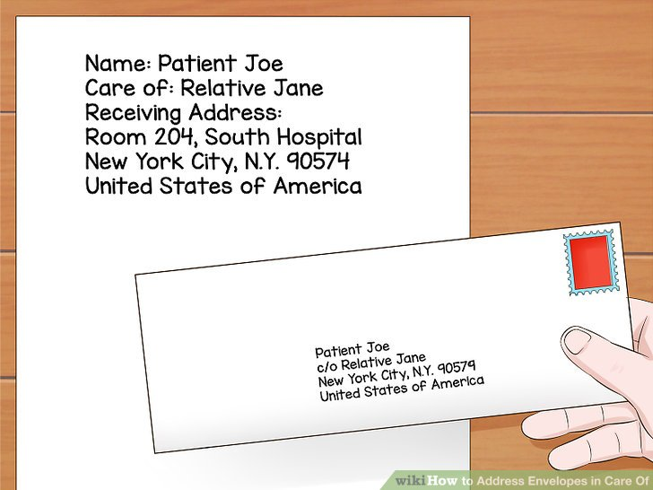 Envelope Address Format Care