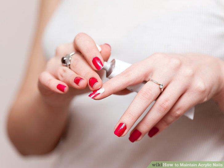 Image Led Maintain Acrylic Nails Step 1