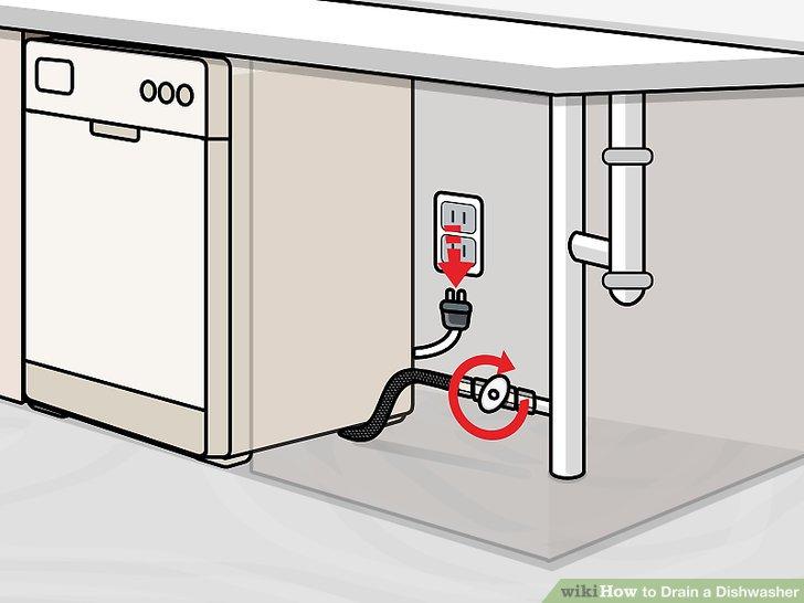 drain a dishwasher