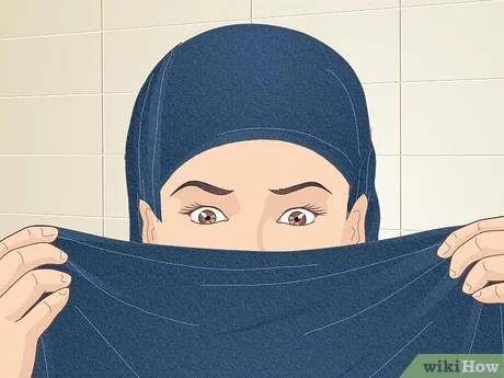 The hijab is a form of head covering worn by some muslim women and muslim girls. 4 Ways To Cover Your Face With A Hijab Wikihow