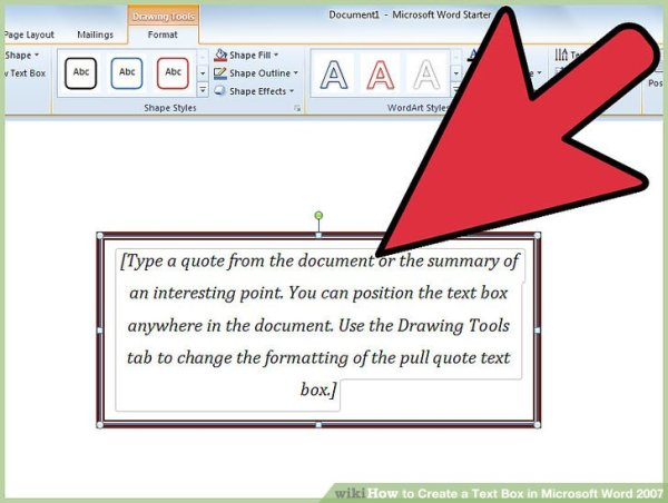 How to Create a Text Box in Microsoft Word 2007: 8 Steps