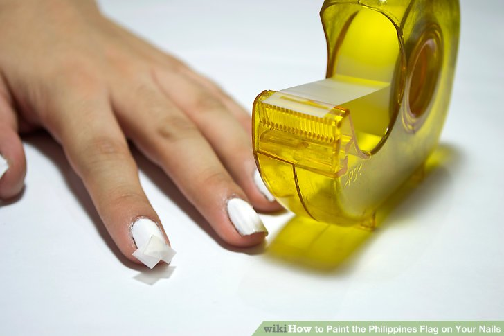 Image Led Paint The Phillipine Flag On Your Nails Step 3