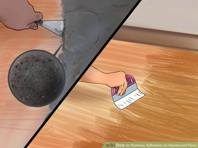 How to Remove Adhesive on Hardwood Floor  with Pictures    wikiHow Image titled Remove Adhesive on Hardwood Floor Step 2
