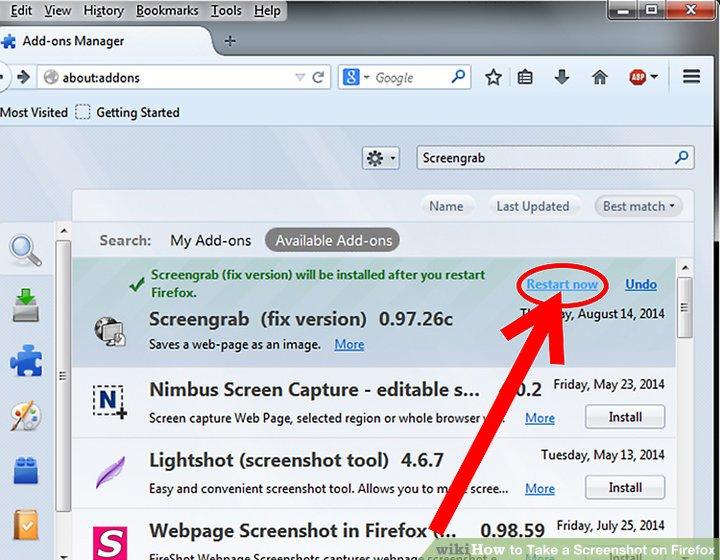 How to screenshot on mac firefox howsto 5 ways to take a screenshot on firefox wikihow ccuart Choice Image
