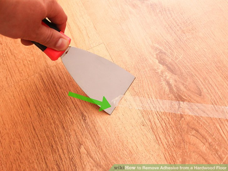Image Led Remove Adhesive From A Hardwood Floor Step 5