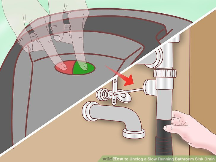 4 ways to unclog a slow running bathroom sink drain - wikihow