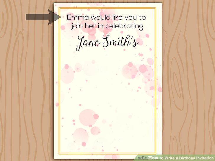 Image Titled Write A Birthday Invitation Step 1