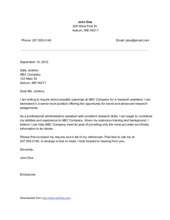 Cover Letter For Unadvertised Job Sle Guamreview Collection Of Solutions Writing A