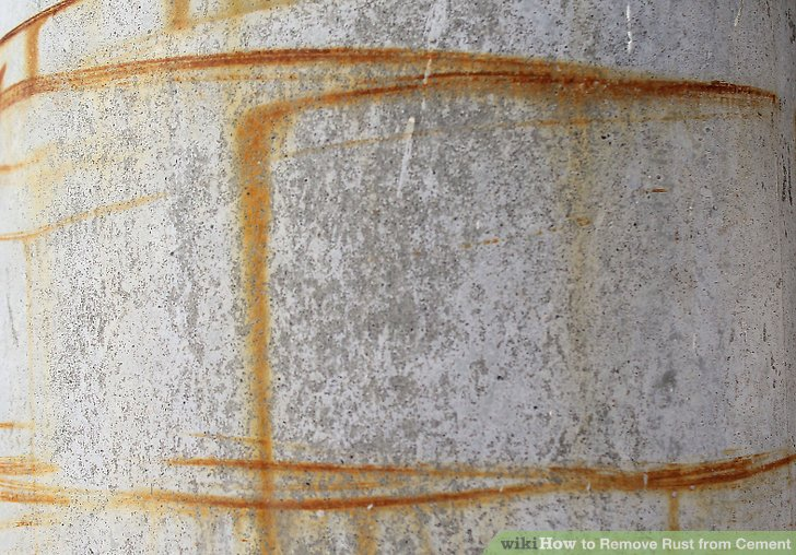 Easy Ways To Remove Rust From Cement WikiHow