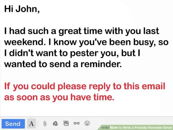 How to Write a Friendly Reminder Email: 12 Steps (with ...