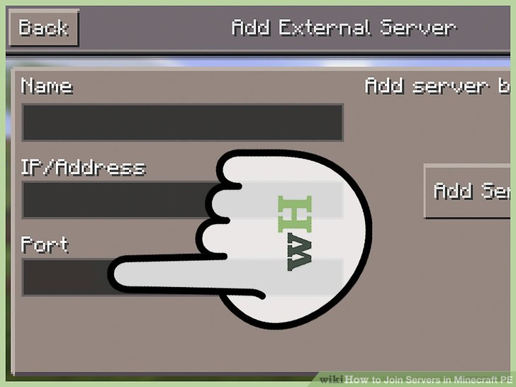 Can Find Where Pe I Server Address Minecraft