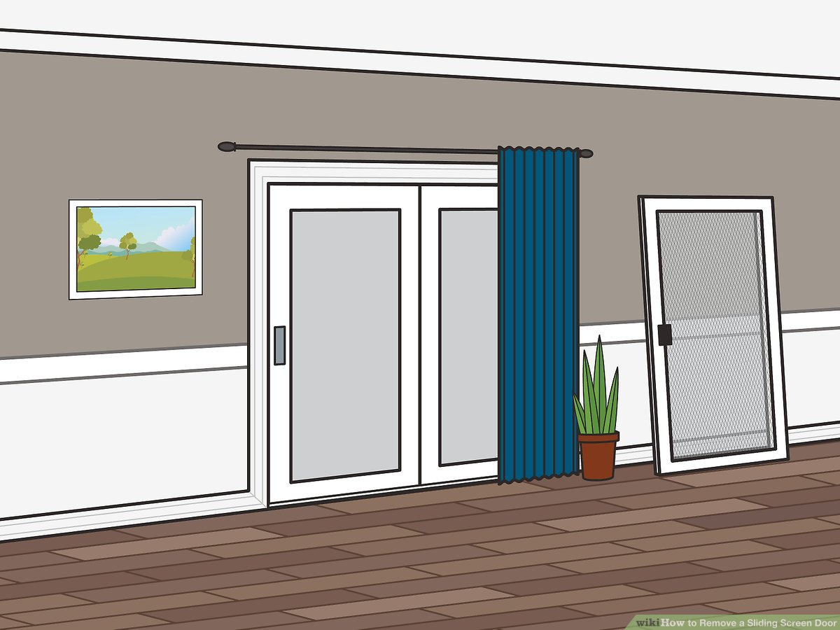 how to remove a sliding screen door 9