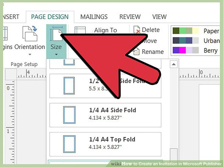 Image Led Create An Invitation In Microsoft Publisher Step 3