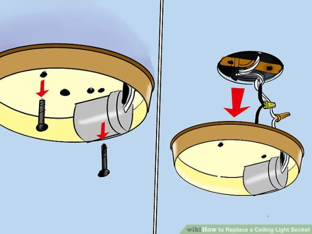 How to Replace a Ceiling Light Socket  13 Steps  with Pictures  Image titled Replace a Ceiling Light Socket Step 4