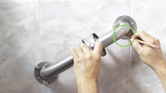 how to install a grab bar 8 steps