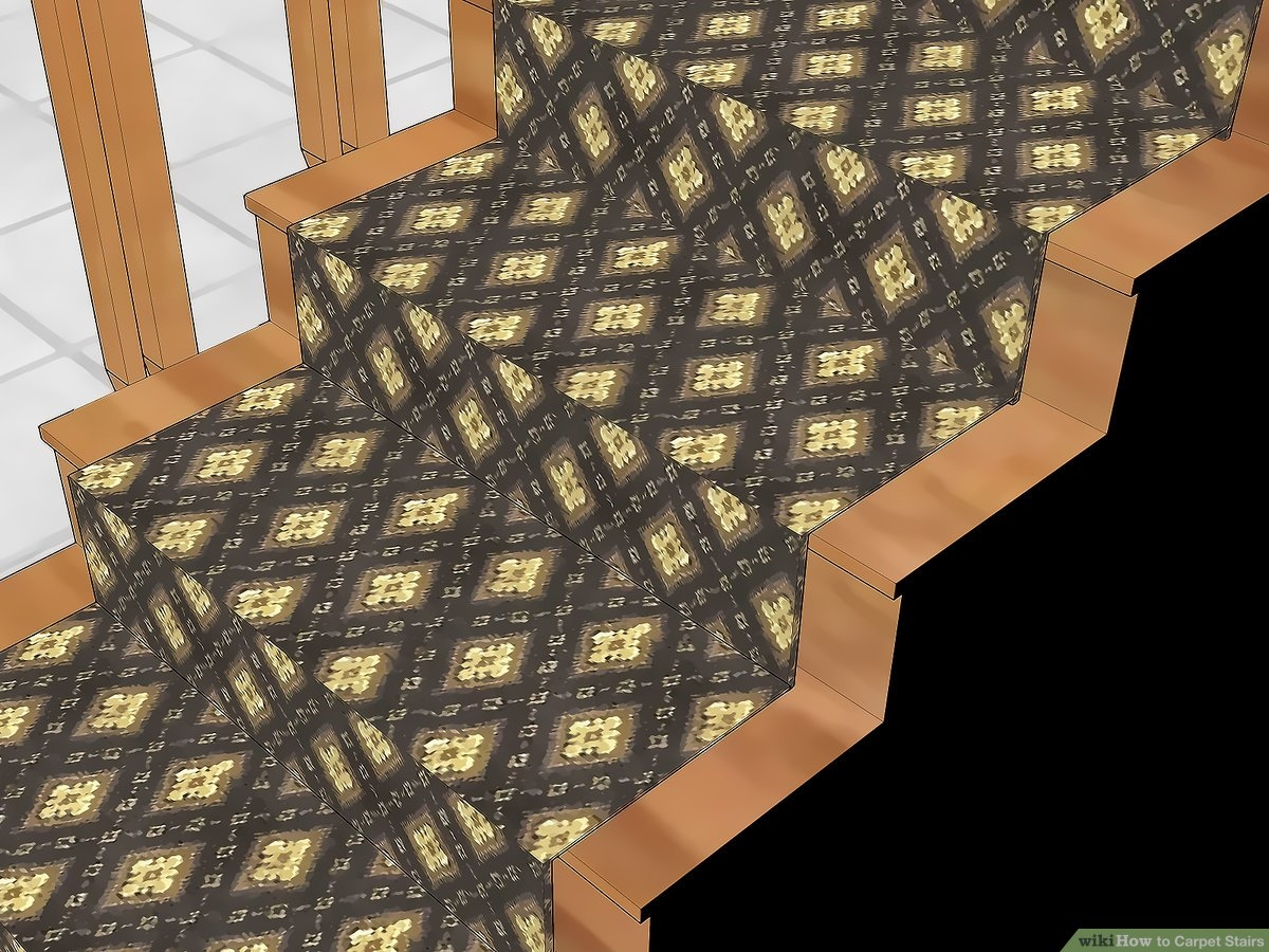How To Carpet Stairs With Pictures Wikihow | Running Carpet For Stairs | Carpet Runners | Laminate Flooring | Runner | Hallway | Grey
