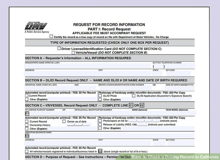 California Driving Record