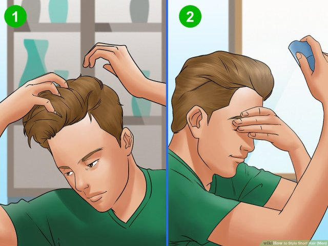 5 ways to style short hair (men) - wikihow