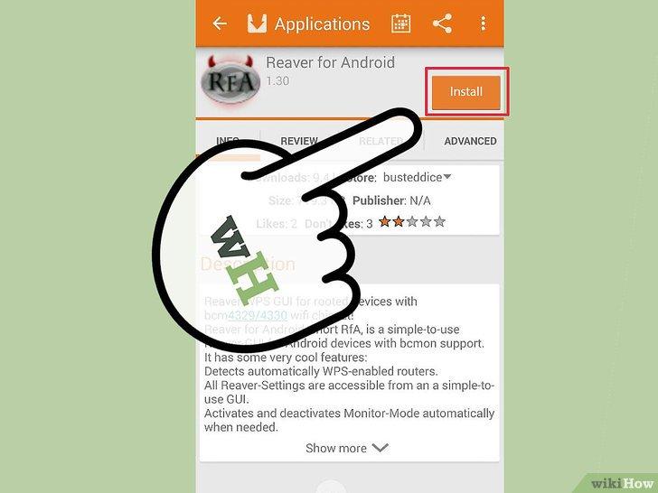 صورة عنوانها Hack Wi Fi Using Android Step 4